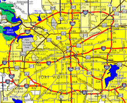 fort worth map interstate guide interstate 820