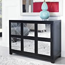 black sofa table with drawers powell mirrored 6 drawer black wood console 233 660