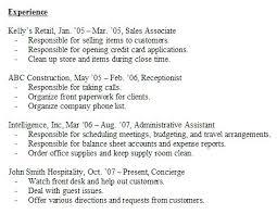 Resume With No Work Experience Template Resume Work Experience Sample Resume Examples No Work Experience