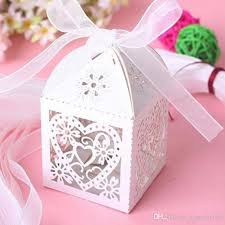 gift wrap box diy wedding gift box heart laser cut candy favor boxes with ribbon