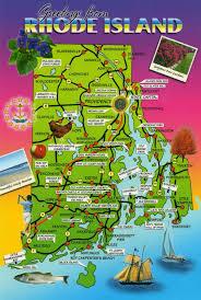 map rhode island maps rhode island postcard maps