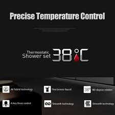 stainless steel thermostatic mixing valve bathroom shower set