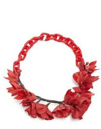 red flower necklace images Red flower necklace shopstyle jpg