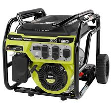 ryobi 5 500 watt gasoline powered electric start portable
