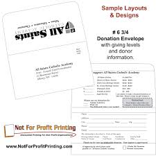 Donation Letter Sample For Non Profit Organization Sample Layouts U0026 Designs For Donation Envelopes And Remittance