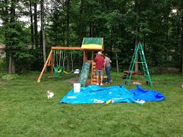 high wooden swing sets clearance ideas in your outdoor backyard