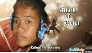 Meme Photos Tagalog - attack on totoy only a filipino know him by usagi182 meme center