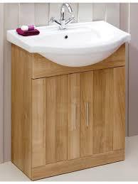 Slimline Vanity Units Bathroom Furniture by Cordoba Oak 65cm Vanity Unit