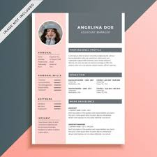 Resume Psd Template Cv Template Vectors Photos And Psd Files Free Download