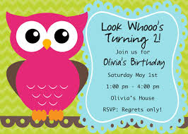 birthday invites fascinating owl birthday invitations ideas free