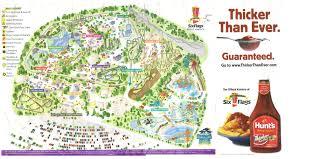 Six Flags Great America Jobs Theme Park Brochures Six Flags Great America Within Map