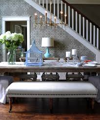 gray dining table with bench suzie isabella and max rooms beautiful elegant dining room