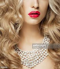 hair necklace diamond necklace stock photos and pictures getty images