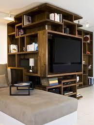 wooden bookshelf with tv unit design bookshelf u0026 library