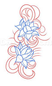 Simple Lotus Flower Drawing - drawing a simple lotus flower how to draw lotus drawing for