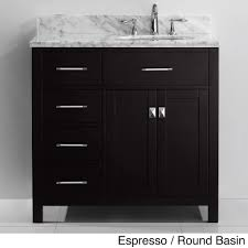 bathroom vanity with sink on right side bathroom vanity with drawers on left side bathroom vanities