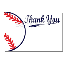 baseball thank you card baby shower digital or print