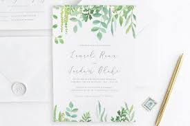 wedding invitations greenery pantone greenery wedding invitations aisle society