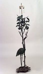 Floor Lamp Tree Branches French Art Nouveau Tall Bronze Bird Floor Lamp For Sale At 1stdibs
