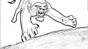 lion king coloring pages kovu eliolera com