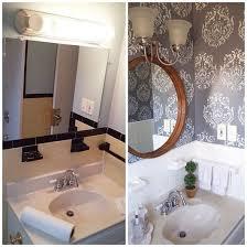 bathroom stencil ideas a diy stenciled bathroom wall the brocade no 1 stencil from