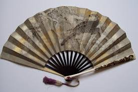 antique fans falconry in japan seen on a fan antique fans