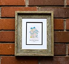 my first home new home housewarming gift personalized map