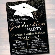 free graduation invitations fresh graduation invitations templates for black and gold
