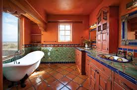 Adobe Bathrooms Wayne And Kiki Suggs Classic New Mexico Home Builders Las Cruces
