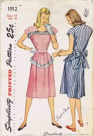 sale 1940s womens dress simplicity 1912 vintage sewing pattern