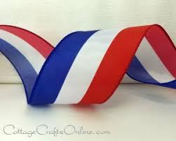blue and white striped ribbon americana patriotic