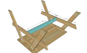 Free Wood Picnic Bench Plans by Ana White Preschool Picnic Table Diy Projects
