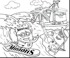 banana tree coloring pages free minions colouring minion