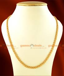gold chain necklace wholesale images Ckmn07 xlg one gm 36 inches extra long chidambaram gold plated jpg