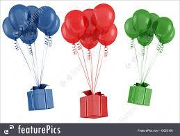 balloon gift balloon and gift box illustration