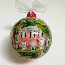 custom home portrait ornament housewarming hostess gift