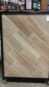 soft greige wood plank porcelain tile 6in x 40in floor and