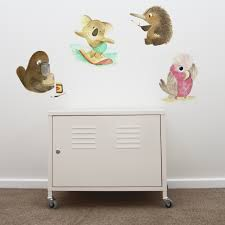 buy wall stickers for nursery online gorgeous design in removable native animals removable wall stickers behind a cabinet