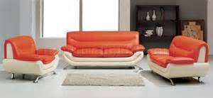 Two Tone Orange Living Room Carameloffers - Orange living room set