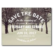 Postcard Save The Dates Trees Avenue Stylish Save The Date Postcard