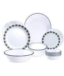 Buy Corelle Dinner Set Online India Corelle Livingware Black Night 21 Pcs Dinner Set Buy Online At