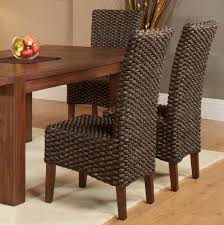 furniture home woven seagrass side chairs modern elegant new