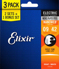 light electric guitar strings elixir strings super light nanoweb electric guitar strings 9 42 3