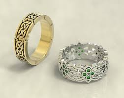 celtic wedding ring sets celtic wedding rings etsy