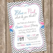 pink and blue chevron gender reveal invitation baby reveal