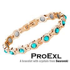 magnetic gold bracelet images Swarovski crystal womens magnetic therapy bracelet jpg