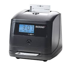 pyramid 5000 100 employee auto totaling time clock black 5000