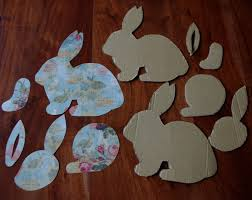 paper mache easter bunny creative try als make your own decoupage cardboard easter bunny