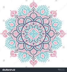 beautiful vector snowflake mandala ornament stock vector