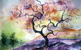 inspiring watercolor painting ideas watercolor tree painting fonds